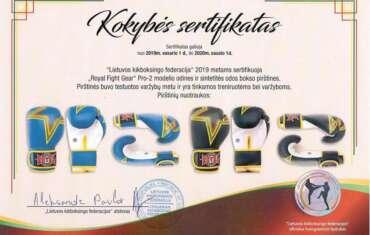 """""""Lietuvos kikboksingo federacija"""" sertifikavo """"Royal"""" Pro-2 bokso pirštines"""