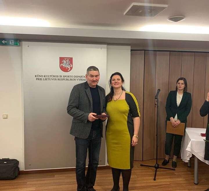Už nuopelnus Lietuvos kikboksui apdovanotas Aleksandr Šestak